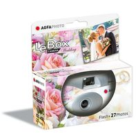 Für weitere Info hier klicken. Artikel: Agfaphoto LeBox Wedding Flash 400 27 Aufnahmen, Einwegkamera