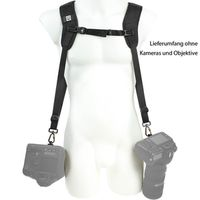 Für weitere Info hier klicken. Artikel: Blackrapid R-Strap Double Breathe Rucksack-ähnliches Doppelgurt-System z.B für 2 DSLR-Kameras mit schweren ZOOM-Objektiven