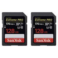 Für weitere Info hier klicken. Artikel: SanDisk 2x Extreme Pro, SDXC Video Speed, Class 10, UHS-I, U3, V30,170MB/s 128 GB