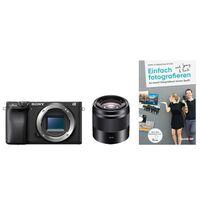 Für weitere Info hier klicken. Artikel: Sony Alpha 6400 (ILCE-6400) + SEL 50mm f/1,8 OSS (Farbe: schwarz) + Buch Einfach fotografieren lernen