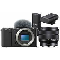 Für weitere Info hier klicken. Artikel: Sony Vlog-Kamera Alpha ZV-E10 + SEL 10-18mm f/4,0 OSS + ECM-W2BT Bluetooth-Mikrofon