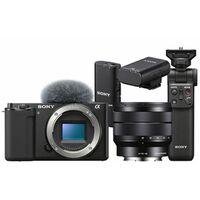 Für weitere Info hier klicken. Artikel: Sony Vlog-Kamera Alpha ZV-E10 + SEL 10-18mm f/4,0 OSS + Bluetooth Griff GP-VPT2BT + ECM-W2BT Bluetooth-Mikrofon