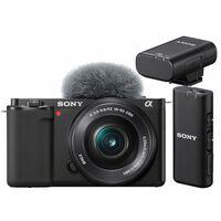Für weitere Info hier klicken. Artikel: Sony Vlog-Kamera Alpha ZV-E10 + SEL 16-50mm PZ OSS + ECM-W2BT Bluetooth-Mikrofon
