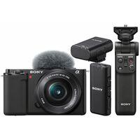 Für weitere Info hier klicken. Artikel: Sony Vlog-Kamera Alpha ZV-E10 + SEL 16-50mm PZ OSS + Bluetooth Griff GP-VPT2BT + ECM-W2BT Bluetooth-Mikrofon