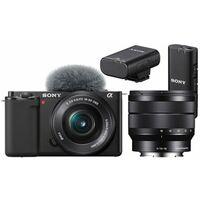Für weitere Info hier klicken. Artikel: Sony Vlog-Kamera Alpha ZV-E10 + SEL 16-50mm PZ OSS + SEL 10-18mm f/4,0 OSS + ECM-W2BT Bluetooth-Mikrofon