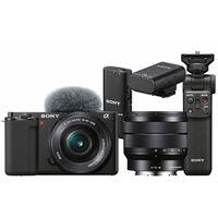 Für weitere Info hier klicken. Artikel: Sony Vlog-Kamera Alpha ZV-E10 + SEL 16-50mm + SEL 10-18mm f/4,0 + Bluetooth Griff GP-VPT2BT + ECM-W2BT Bluetooth-Mikrofon