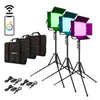 Für weitere Info hier klicken. Artikel: Walimex pro LED Rainbow 50W RGBWW Set 3 (3x Rainbow 50W, 3x Lampenstativ GN-806)