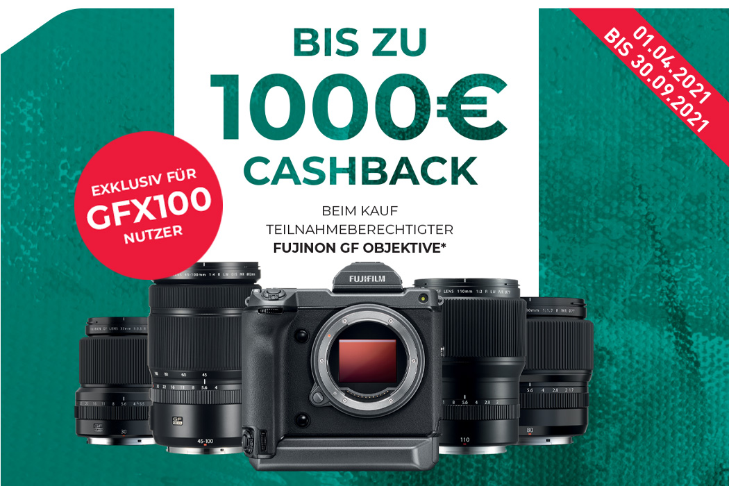 Fujifilm GF Objektiv Cashback GFX-100